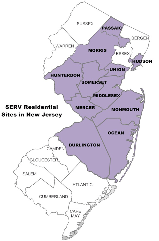New Jersey counties served by SERV